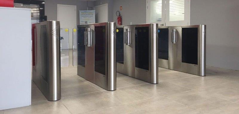 Catraca de acesso biometrico